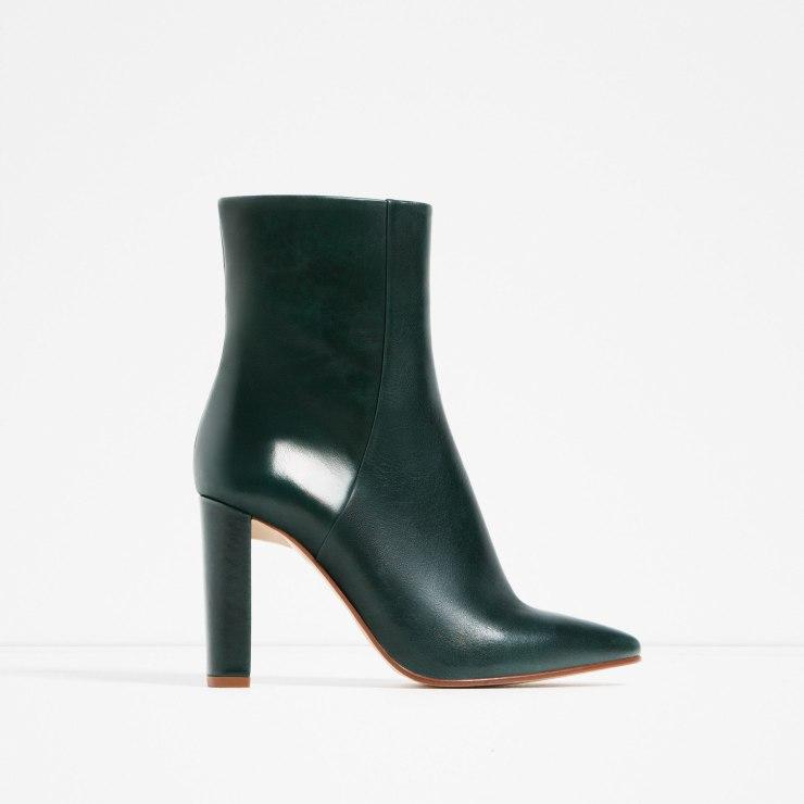high heel booties