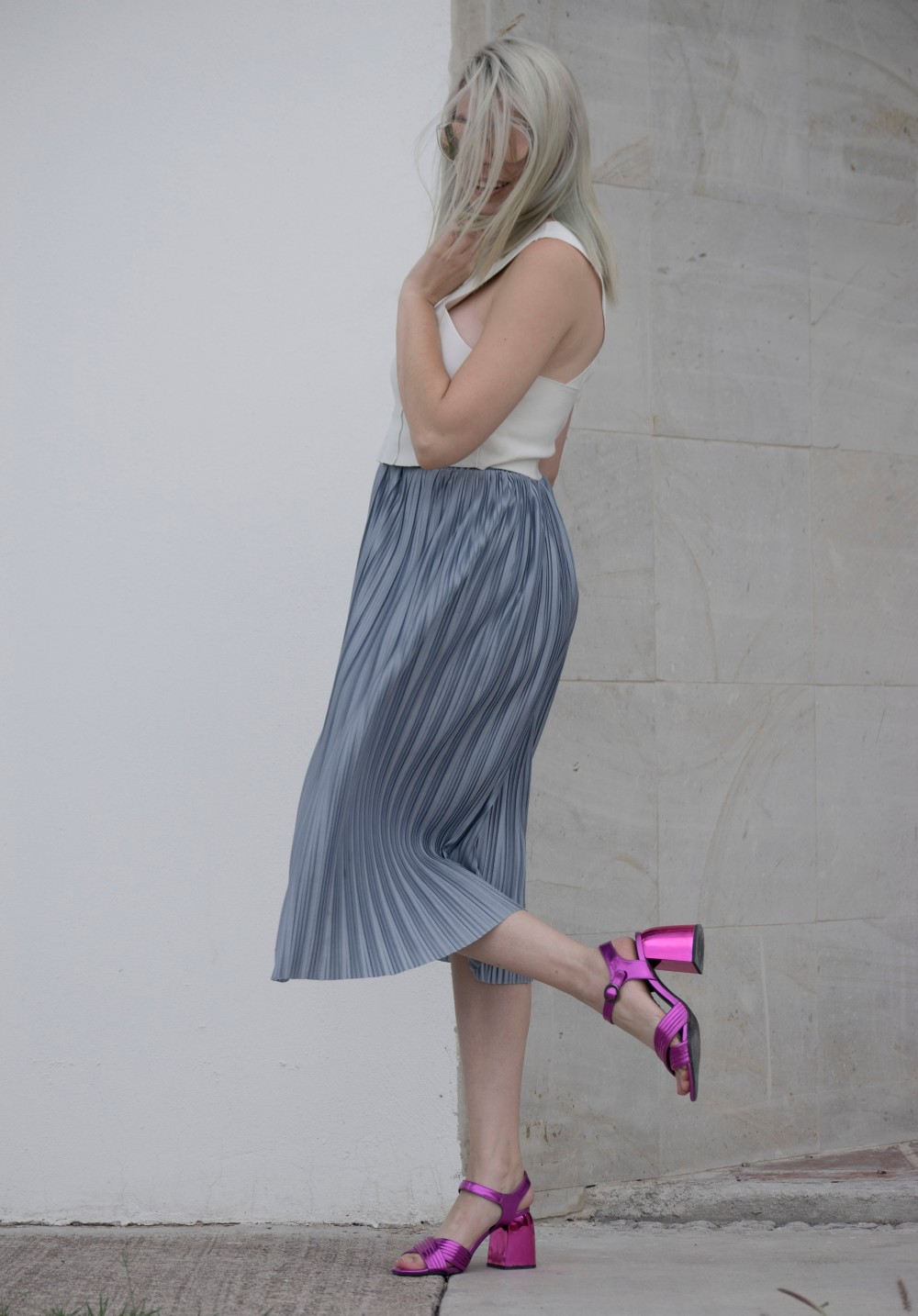 SILVER SKIRT AND BARBIE HEELS_3