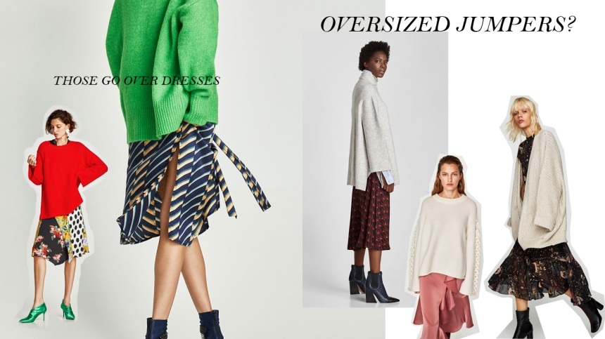 OVERSIZED JUMPERS OVER DRESSES