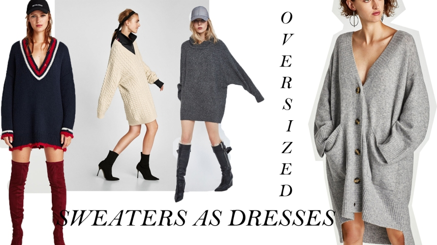WEAR YOUR SWEATER AS A DRESS