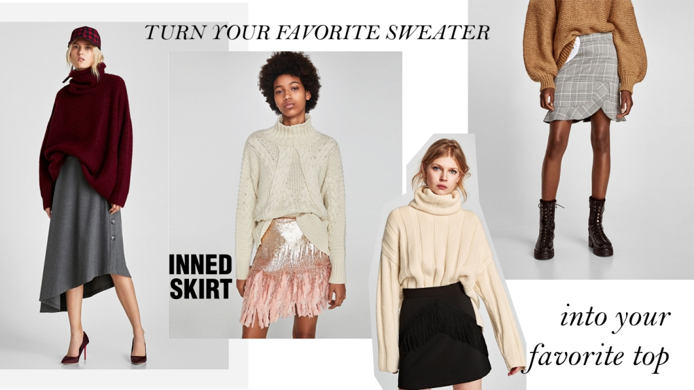 WEAR YOUR SWEATER AS A TOP