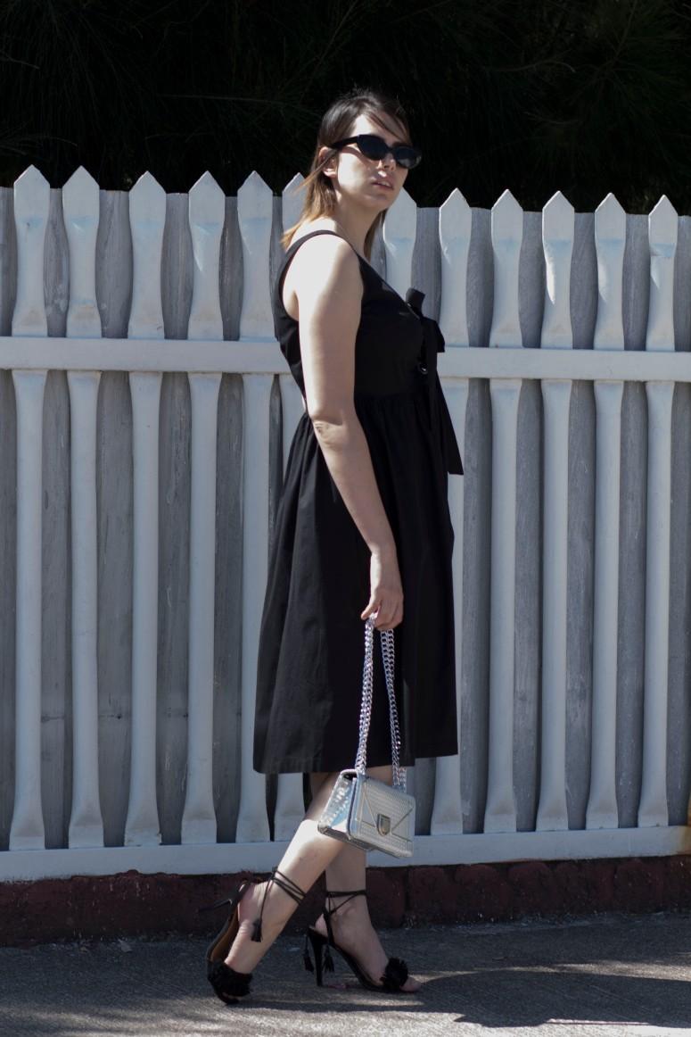 Black lace up dress_4