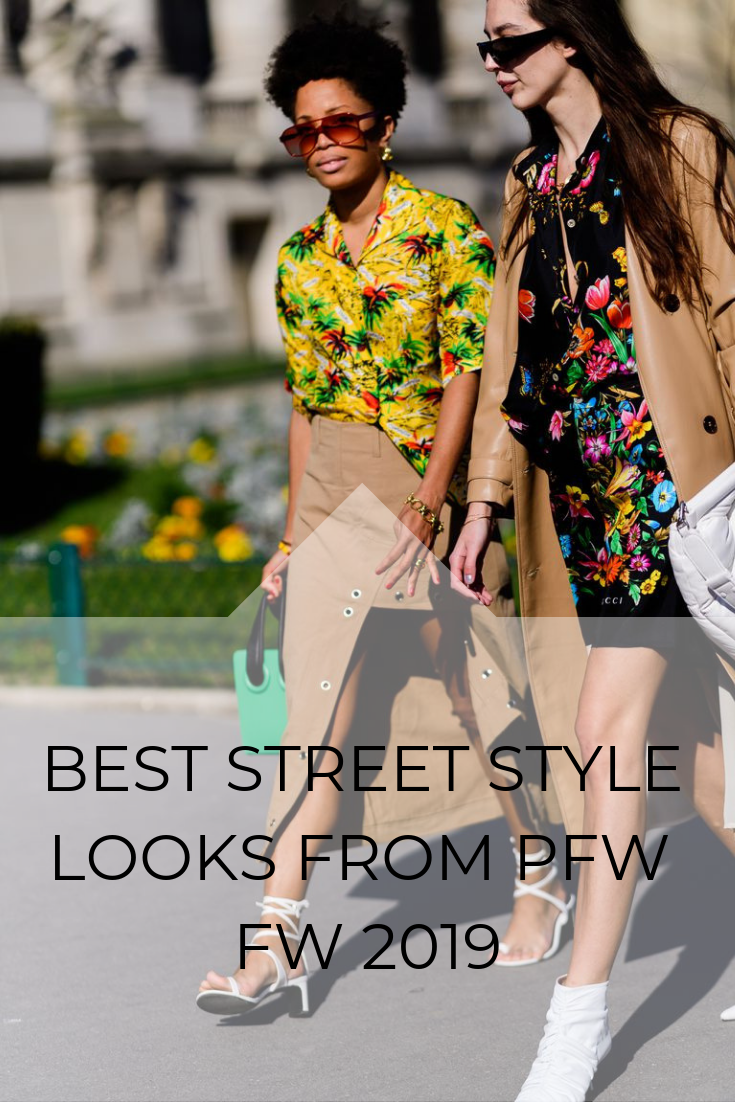 BEST STREET STYLE LOOKS FROM PFW FW 2019